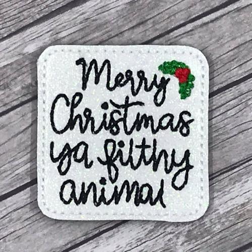 Collar Glam - Merry Christmas Ya Filthy Animal