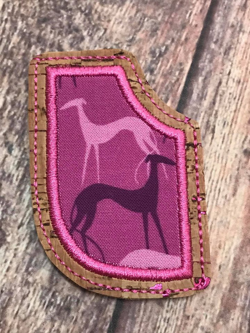 Corner Bookmark - Greyhound Shadows Magenta