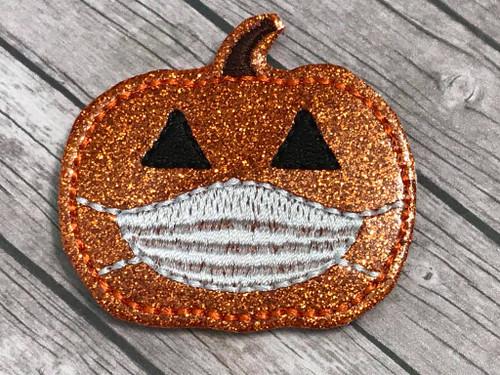 Collar Glam - Pumpkin Wearing Mask