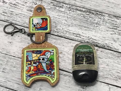 Sanitizer Holder - 1oz Christmas Town Stockings