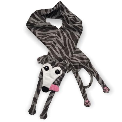 Houndie Cuddler Scarf Brindle with Mask, Eyelashes and Tongue