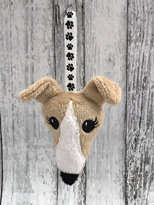 Houndie Head Ornament Camel with Blaze and Eyelashes