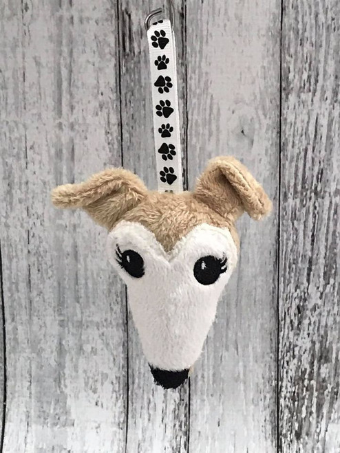 Houndie Head Ornament Camel with Mask and Eyelashes
