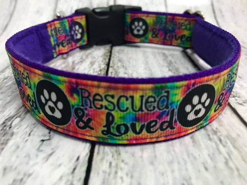 """Rescued & Loved 1 Inch Side Release 10-15"""""""