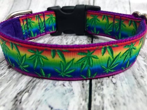 """Premade Weed Rainbow 1 Inch Side Release 9-12"""""""