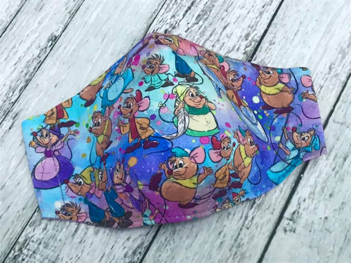 Face Mask - Cinderella Mice RARE Fabric MEDIUM