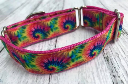 """Premade Tie Dye 1 Inch Martingale 9-12"""""""