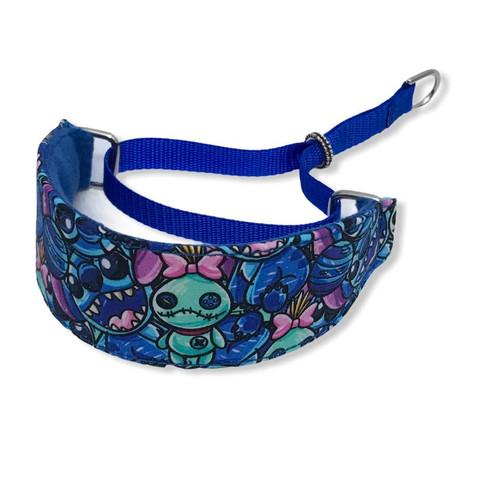 "Stitch RARE FABRIC Walking Hound Collar  8-12"""