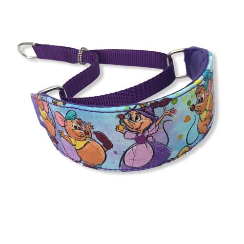 "Cinderella Mice RARE FABRIC Walking Hound Collar  8-12"""