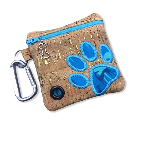 Poopie Pouch - Greyhound Shadows Paw Cork LINED