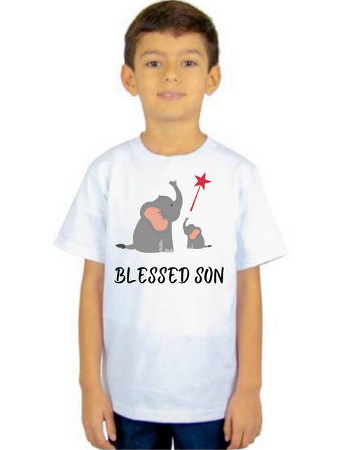 Blessed Kid Son Tshirt, Toddler's T-Shirt Short Sleeve Summer kids Tshirts