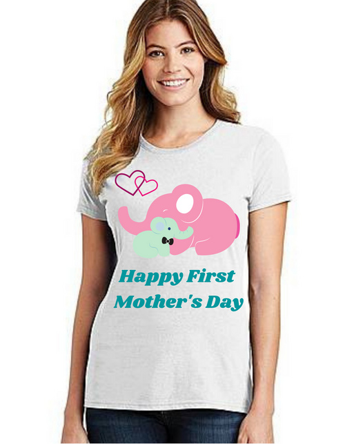Happy First Mother's day Mama Tshirt Mom Life T-Shirt Short Sleeve Summer Mommy Tshirts