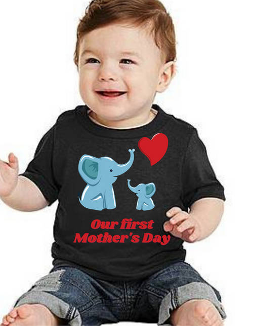Kids First Mother's day kids Tshirt (Unisex)