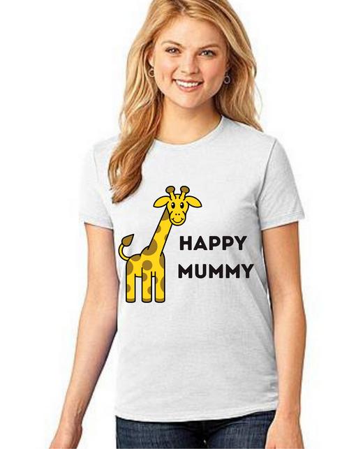 Happy MOM Tshirt Mom Life T-Shirt Short Sleeve Summer Mommy Tshirts