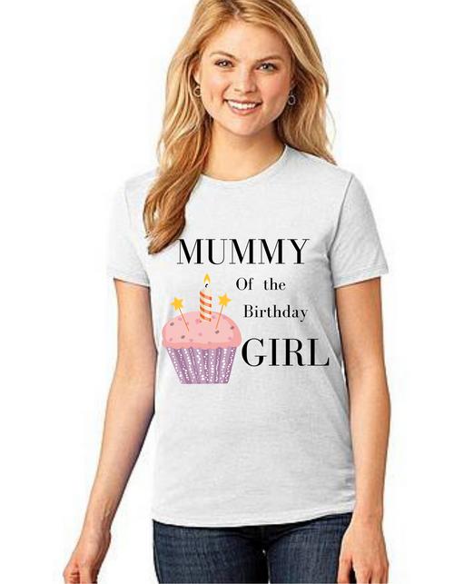 Mommy of the Birthday Girl,Tshirts Mom Life T-Shirt Short Sleeve Summer Mommy Tshirts