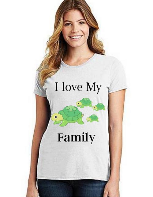 I love my family Tshirt_Mom, family matching tshirts