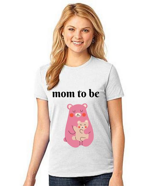MOM to be bear Tshirt Mom Life T-Shirt Short Sleeve Summer Mommy Tshirts