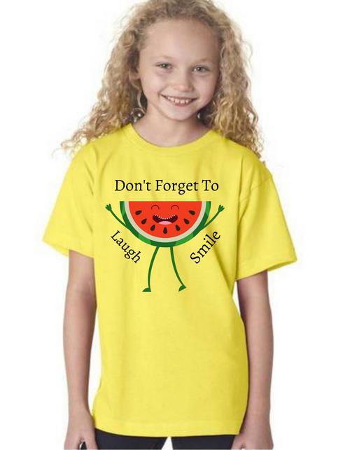 Don't forget to smile Tshirt_Girl, family matching tshirts, tshirt for girl
