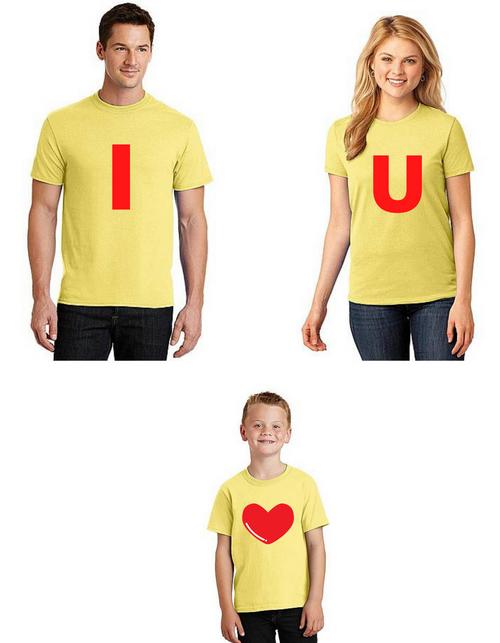 Roma Family Tshirts I love you together, Family matching tshirts