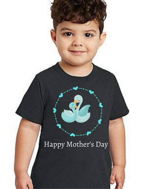 Happy Mother's day Swan kids Tshirt (Unisex), Tshirts for Boy Tshirts for girls
