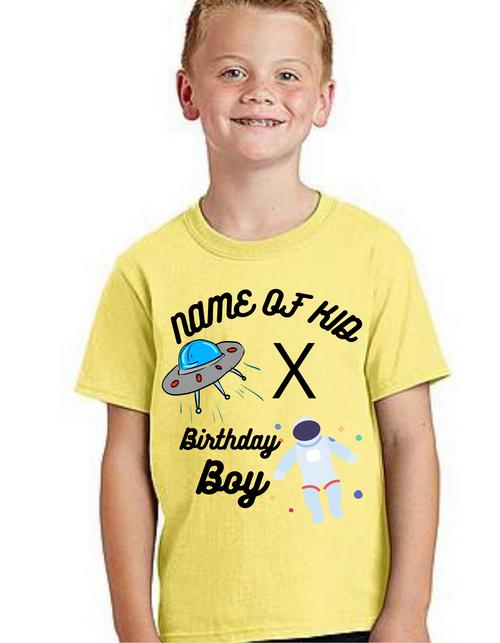 Roma Bday theme tshirts for kids_Astronaut