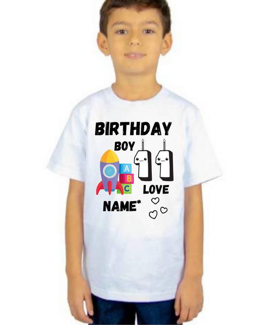 Birthday Boy Rocket T-shirts kids Tshirt , bday tshirts, Boy's tshirts