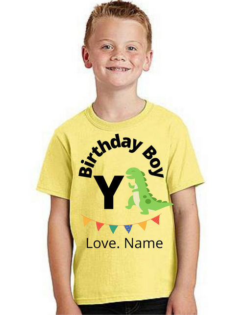 Birthday Boy Dyno cutom T-shirts kids Tshirt , bday tshirts, Boy's tshirts