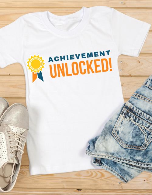 Roma Graduation T-shirt for girls achievements unlocked,Summer tshirts shirt sleeves