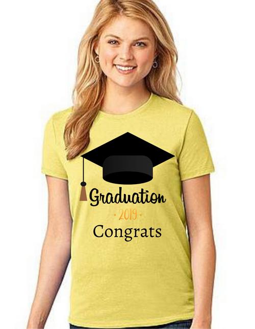 Roma Graduation T-shirt for girls Congrats Grad-Hat, Summer tshirts shirt sleeves