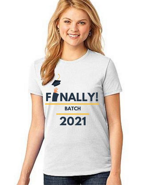 Roma Graduation T-shirt for girls Finally, Summer tshirts shirt sleeves