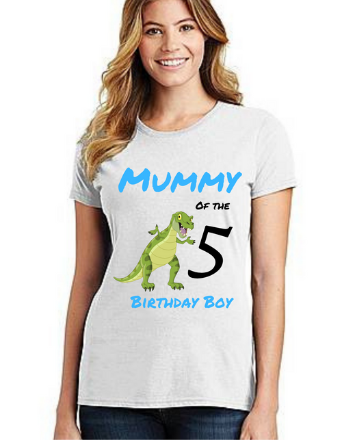 Mommy of the Birthday Boy Dyno roar theme, Tshirts Mom Life T-Shirt Short Sleeve Summer Mommy Tshirts