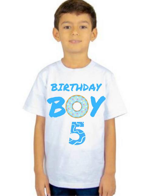 Roma Birthday Boy Donut theme T-shirts kids T-shirt , bday tshirts, Boy's tshirts