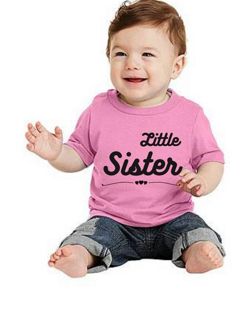 Roma liltle Sister kids Tshirt, Tshirts for siblings girls