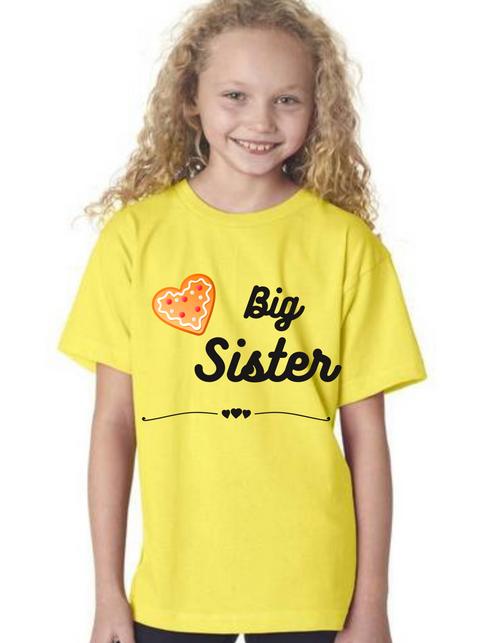 Roma Big Sister kids Tshirtfor sisters, Tshirts for siblings girls, tshirts for Big Sis& Little Sis matching