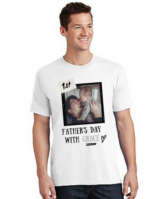 Happy father's Day personalized  T-shirt with photo print  Dad Life T-Shirt Short Sleeve Summer  Daddy tshirts