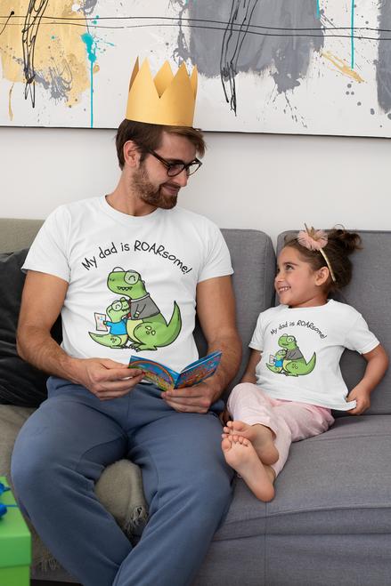 Roma My Dad is Roarsome kids Tshirt (Unisex), Tshirts for Boy Tshirts for girls