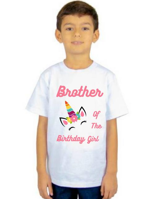 Brother of Birthday Girl  Unicorn  theme T-shirts kids Tshirt , bday tshirts, Boy's tshirts