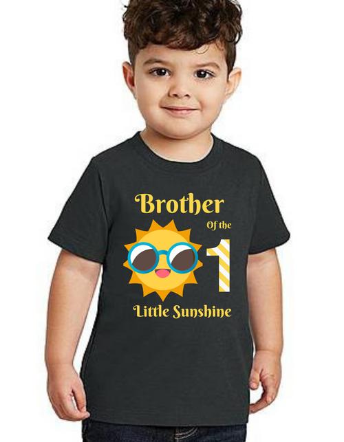 Brother of Birthday Girl  Sunshine  theme T-shirts kids Tshirt , bday tshirts, Boy's tshirts