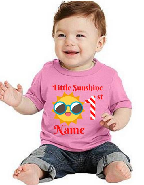 Roma Birthday GIRL tshirt for Sunshine theme  kids Tshirt , bday tshirts,girls tshists