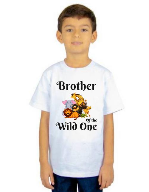 Brother of Birthday Girl Wild One theme T-shirts kids Tshirt , bday tshirts, Boy's tshirts