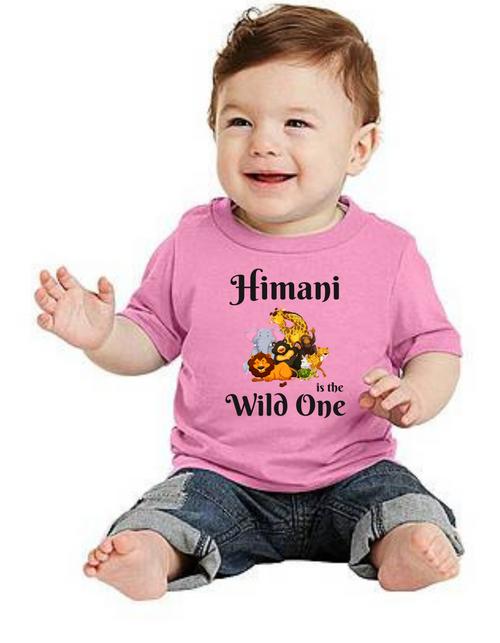 Roma Birthday GIRL tshirt for Wild One theme  kids Tshirt , bday tshirts,girls tshists