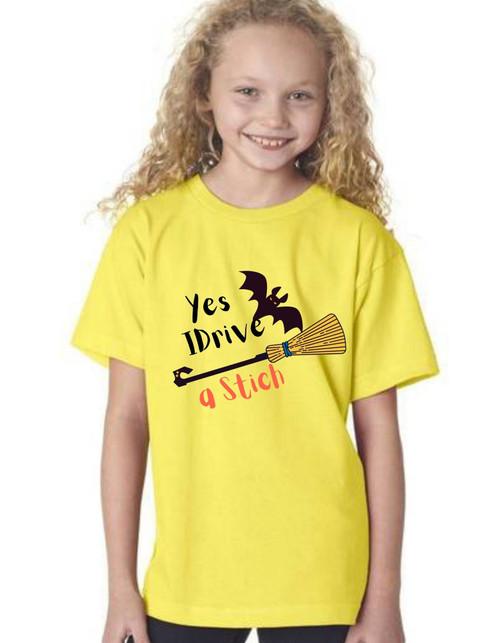 Halloween special girl drive stich tshirts  kids Tshirt , bday tshirts,girls tshists
