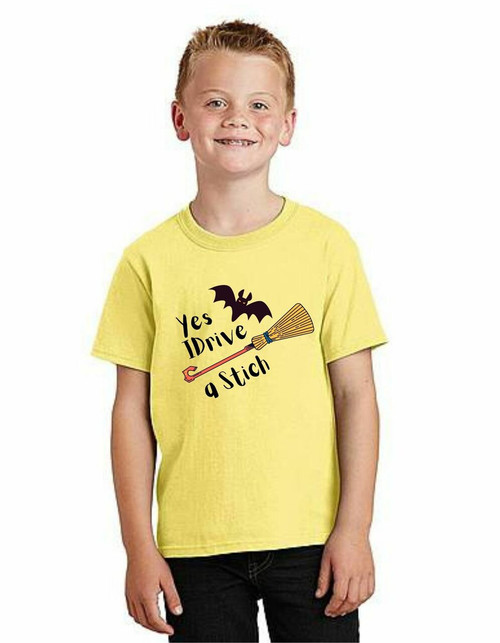 Halloween special boy drive stich T-shirts  kids T-shirt