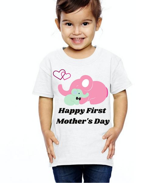 Kids Happy First Mother's day tshirts  kids Tshirt , Unisex tshirts