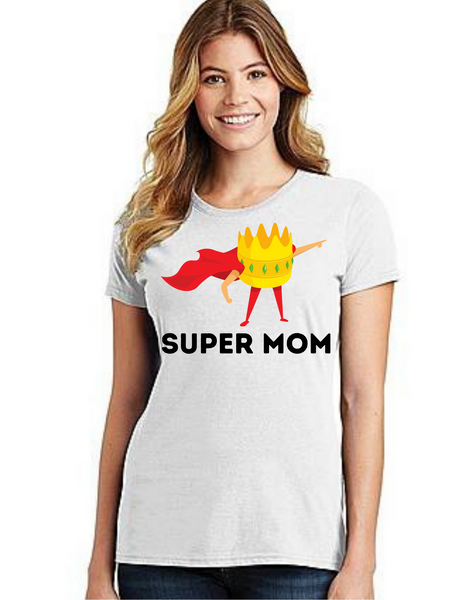 SUPER MOM Tshirt Mom Life T-Shirt Short Sleeve Summer Mommy Tshirts, Mom tshirts