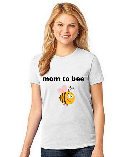 MOM to bee  Tshirt Mom Life T-Shirt Short Sleeve Summer Mommy Tshirts
