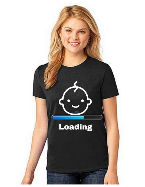 Loading MOM to be  Tshirt Mom Life T-Shirt Short Sleeve Summer Mommy Tshirts
