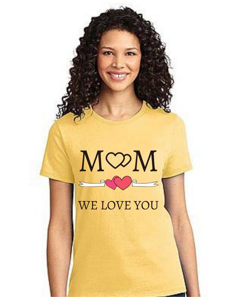 Mom we love you HappyMother's day Mama Tshirt Mom Life T-Shirt Short Sleeve Summer Mommy Tshirts