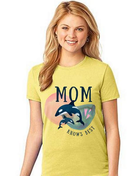 Mom Knows best Tshirt Mom Life T-Shirt Short Sleeve Summer Mommy Tshirts