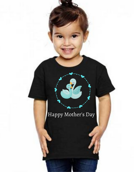 Happy Mother's day Swan daughter girl Tshirt (Unisex), Tshirts for Boy Tshirts for girls